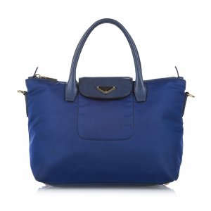 Prada Satchel blue nylon