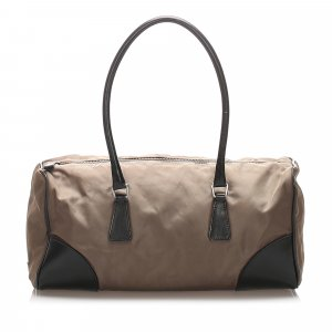 Prada Travel Bag dark brown nylon