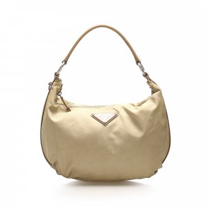 Prada Shoulder Bag beige nylon
