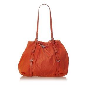 Prada Sac porté épaule orange nylon
