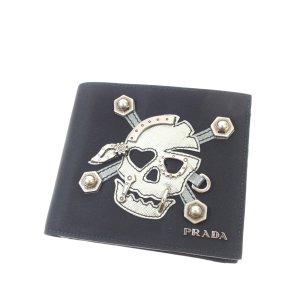Prada Tessuto Skull Bifold Wallet