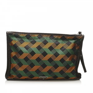 Prada Tessuto Stampato Clutch Bag