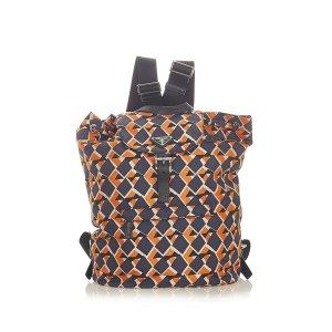 Prada Tessuto Stampato Drawstring Backpack
