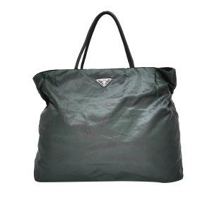 Prada Tote dark green nylon