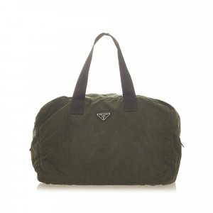 Prada Travel Bag dark green nylon