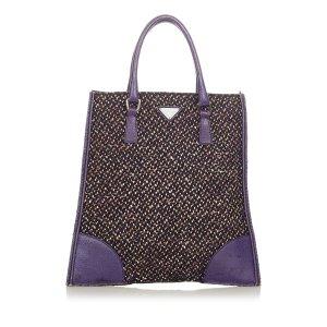 Prada Tweed Tote Bag