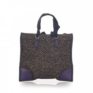 Prada Tweed Tote Bag
