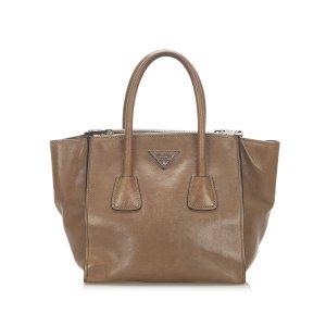 Prada Twin Pocket Leather Satchel
