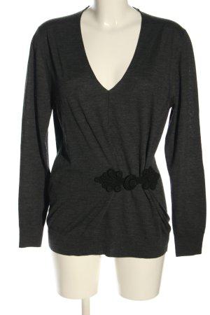 Prada V-Ausschnitt-Pullover hellgrau Casual-Look