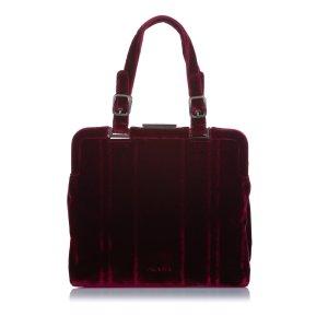 Prada Handbag bordeaux cotton