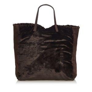 Prada Bolso de compra marrón oscuro Algodón
