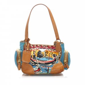 Prada Venice Canvas Shoulder Bag