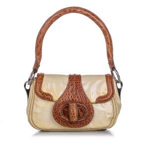 Prada Vernice Cocco Pattina Sottospalla Handbag