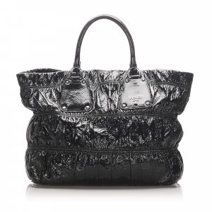 Prada Vernice Gaufre Shoulder Bag