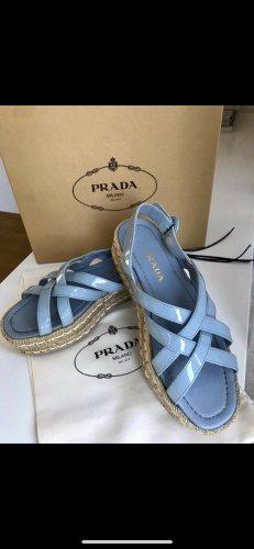 Prada Sandales à talons hauts et plateforme bleu azur