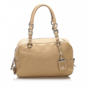 Prada Vitello Daino Canapa Shoulder Bag