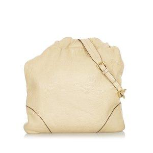 Prada Sac porté épaule beige cuir