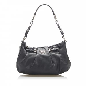 Prada Vitello Daino Leather Hobo Bag