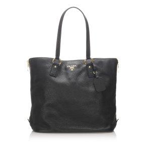 Prada Vitello Daino Leather Tote Bag