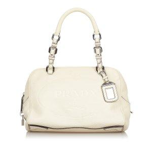 Prada Vitello Daino Logo Handbag