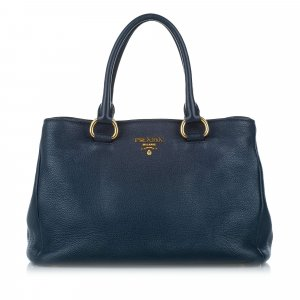 Prada Satchel blue leather