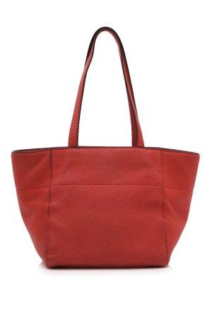 Prada Bolso de compra rojo Cuero