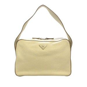 Prada Shoulder Bag white leather