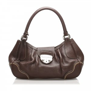 Prada Vitello Daino Sound Lock Handbag
