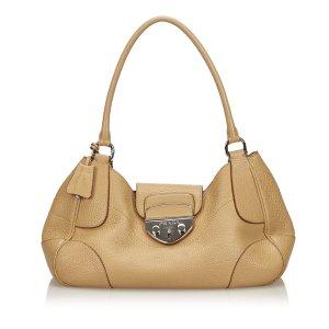 Prada Vitello Daino Sound Lock Shoulder Bag