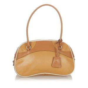 Prada Vitello Drive Bowler Leather Handbag