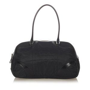 Prada Vitello Drive Nylon Bowler Bag