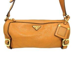 Prada Shoulder Bag orange leather