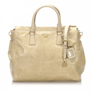 Prada Satchel beige imitation leather