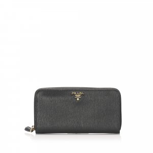 Prada Vitello Move Continental Wallet