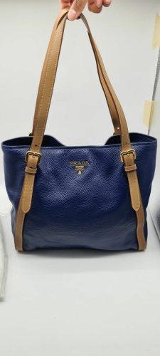 Prada Tote blue leather