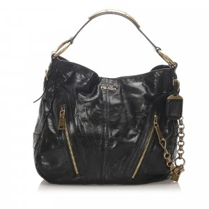 Prada Vitello Shine Hobo Bag