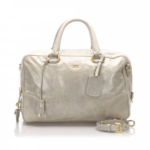 Prada Vitello Shine Leather Satchel
