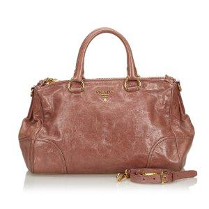 Prada Vitello Shine Leather Satchel