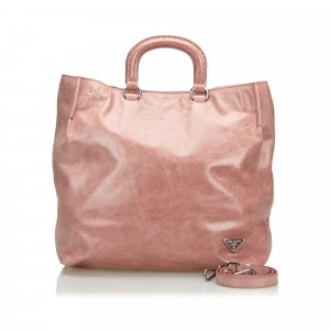 Prada Vitello Shine Leather Tote