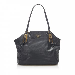 Prada Vitello Shine Leather Tote Bag