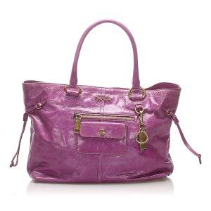 Prada Vitello Shine Leather Tote Bag