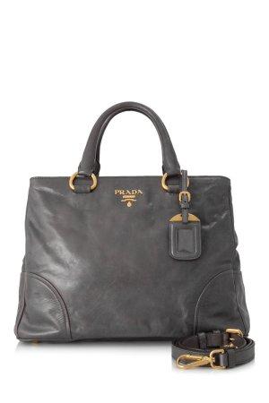 Prada Satchel dark grey leather