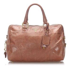 Prada Satchel brown leather