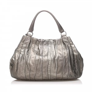 Prada Waves Leather Tote Bag