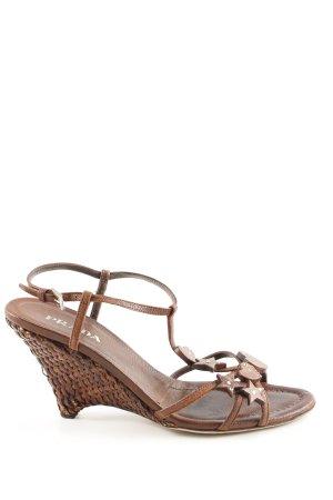 Prada Wedges Sandaletten braun Casual-Look