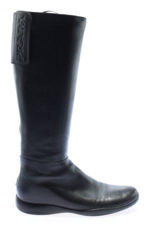 Prada Weitschaftstiefel schwarz Casual-Look