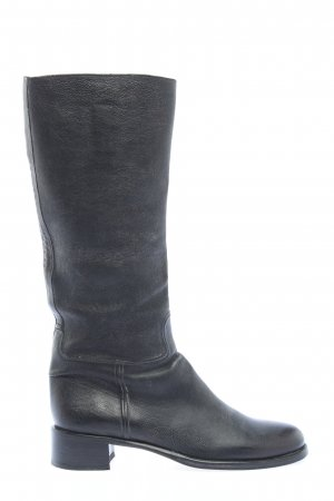 Prada Wide Calf Boots black casual look