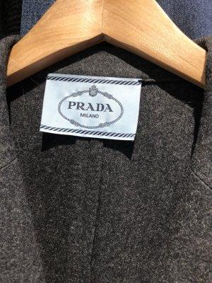 Prada Blazer en laine gris foncé-noir