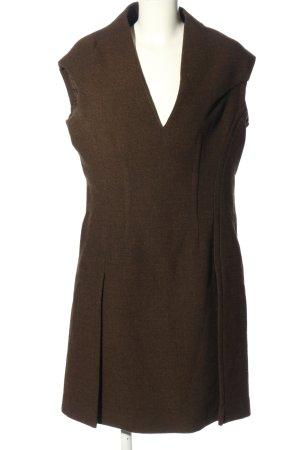 Prada Vestido de lana marrón look casual