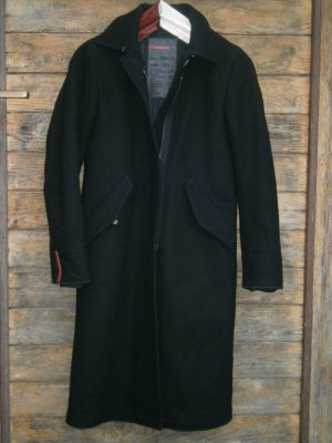 Prada Wollmantel Wolle Gr.34 / XS IT38 schwarz